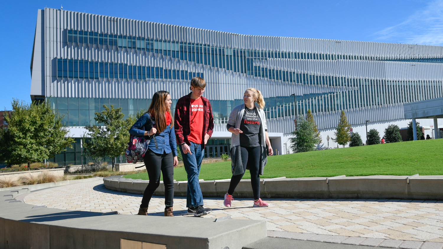 Students tour Centennial Campus.