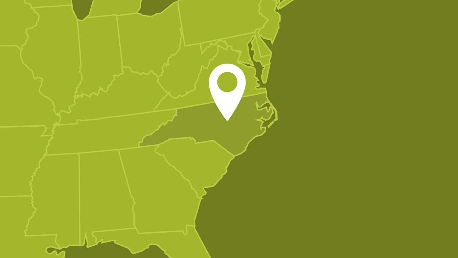 Raleigh is located in the center of North Carolina.