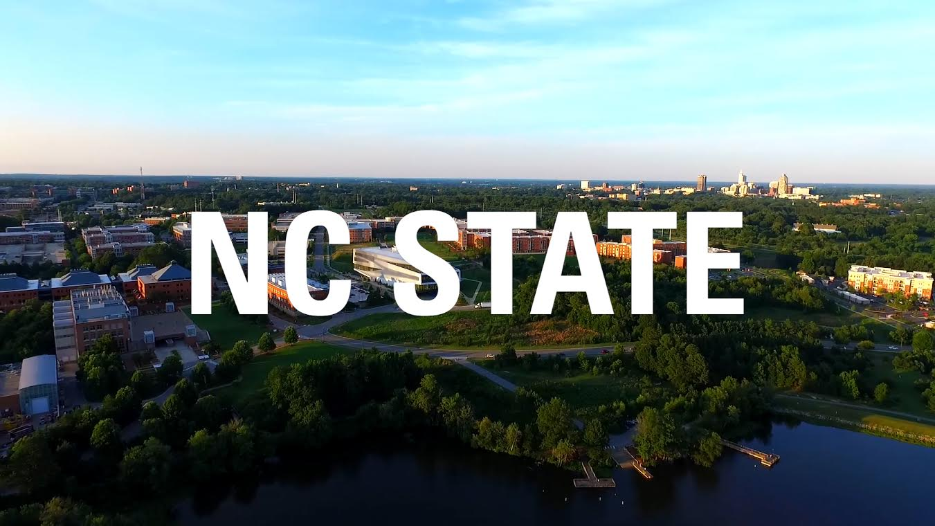 An aerial view of Centennial Campus, where NC State partner Intuitive Surgical has an innovation center.