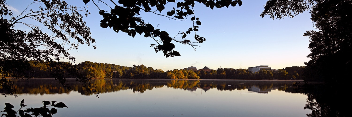 Centennial Campus' Lake Raleigh at sunrise.