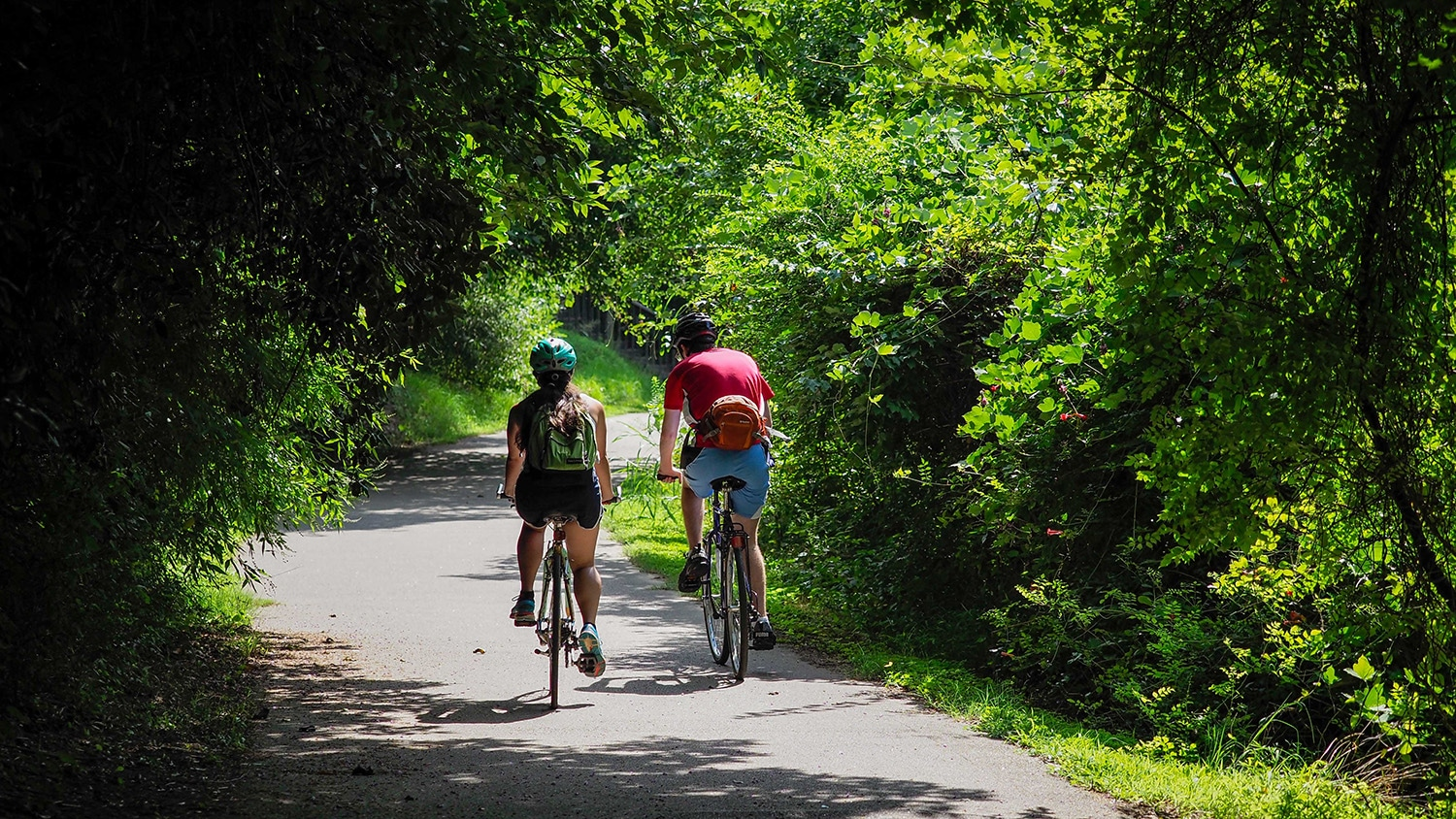 The trails around Lake Raleigh offer opportunities for running, biking, fishing and other recreational activities.